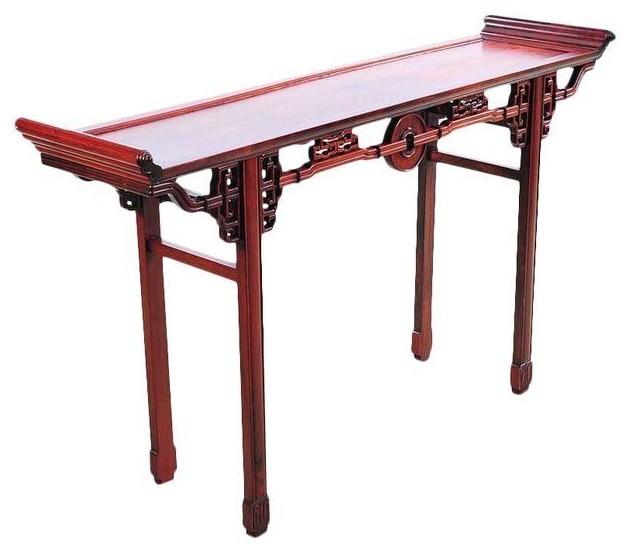 Chinese Antique Carved Rosewood Altar Table Modern Console Tables