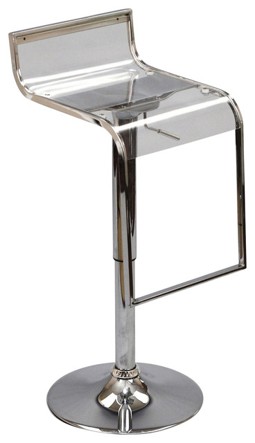 Lem Acrylic Bar Stool Contemporary Bar Stools And