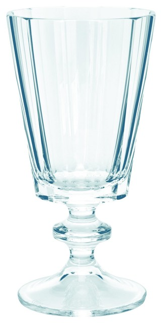 Theresienthal Roland Clear Icy Blue German Crystal Wine Glass - christmastablescapedecor.com