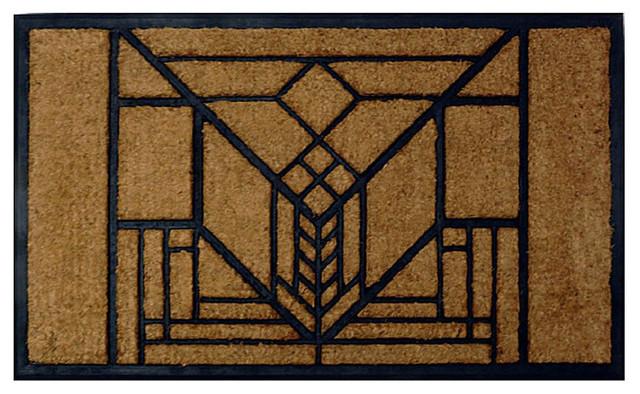 Frank Lloyd Wright Lake Geneva Tulip Doormat.