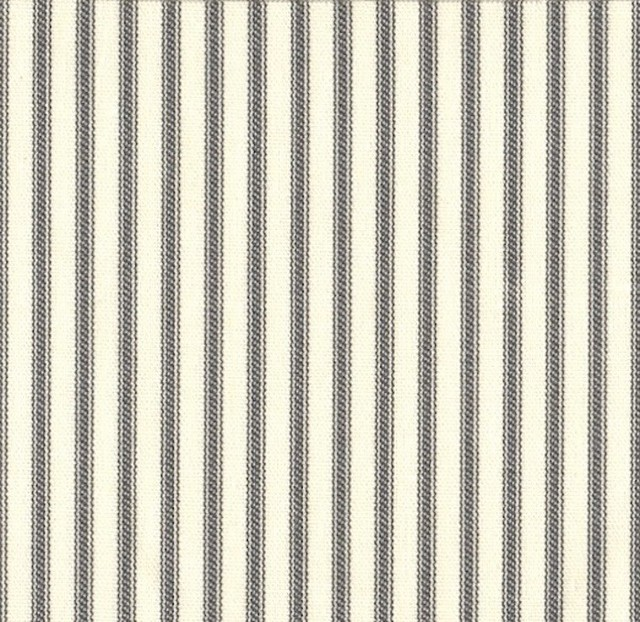 15 Twin Bedskirt Tailored Brindle Gray Ticking Stripe