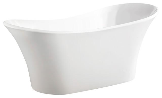 "Akdy Ak, Zf274 Europe Style White Acrylic Free Standing Bathtub, 71""."