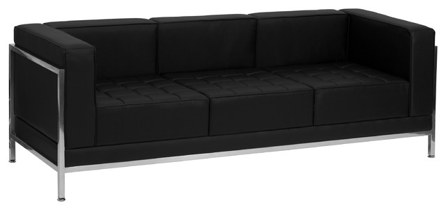 MFO Immaculate Collection Contemporary Leather Sofa with Encasing Frame