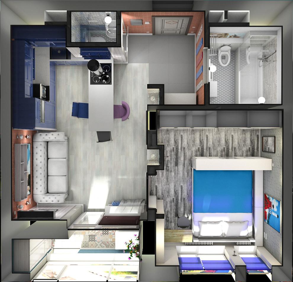 Квартира в американском стиле: план