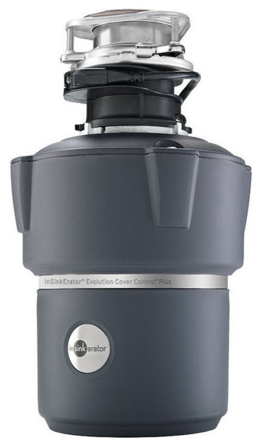 Insinkerator Cover Control Plus Evolution Batch Feed Garbage Disposal, 3/4 Hp.
