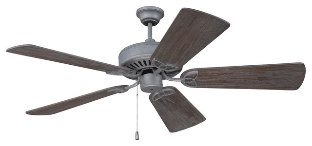 "Cxl Ceiling Fan Kit, Aged Galvanized With 54"" Premier Blackwood Blades."