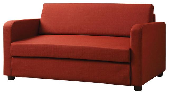 modern flat ltype red fabric sofa bed - Modern Sleeper Sofa