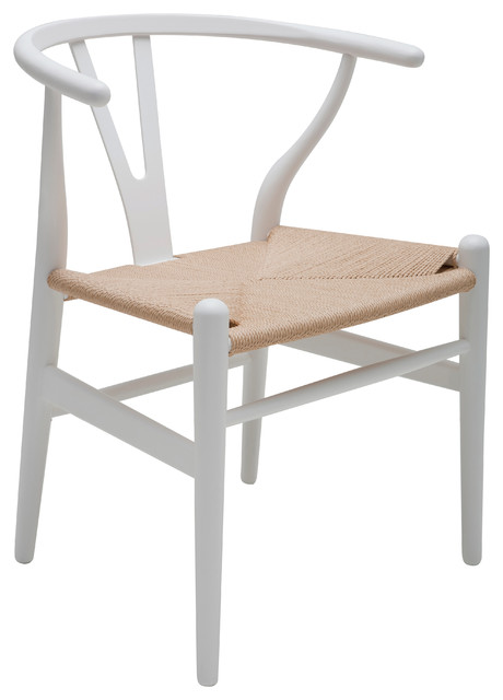 Alban Dining Chair, White, Wood: Beech