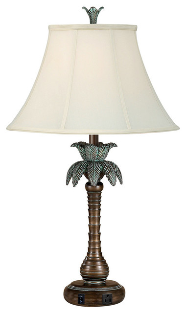 Single Nightstand Lamp Single Tropical Table Lamps By Medallion Lighting