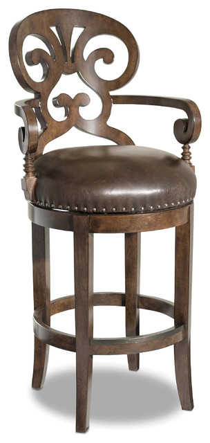Marvelous Jameson Traditional Leather Barstool Gmtry Best Dining Table And Chair Ideas Images Gmtryco
