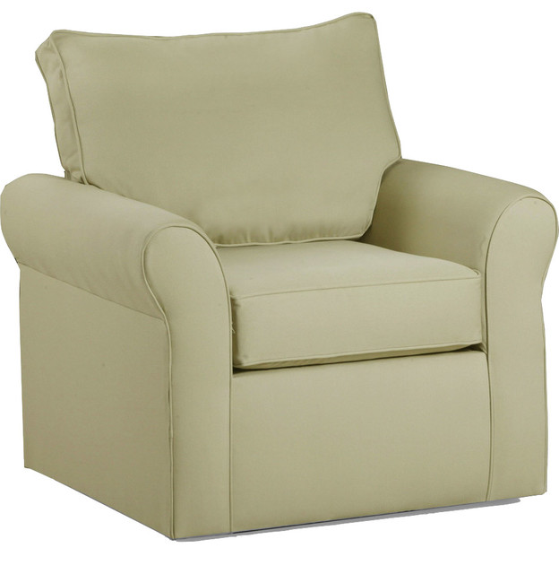 Belle meade swivel arm chair contemporary armchairs for Modern swivel accent chair