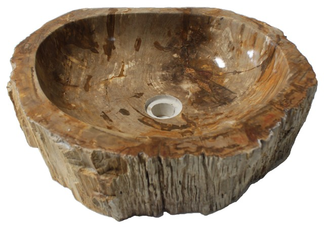 Incroyable Rustic Natural Petrified Wood Stone Unique Bathroom Vessel Sink, Natural  Stone