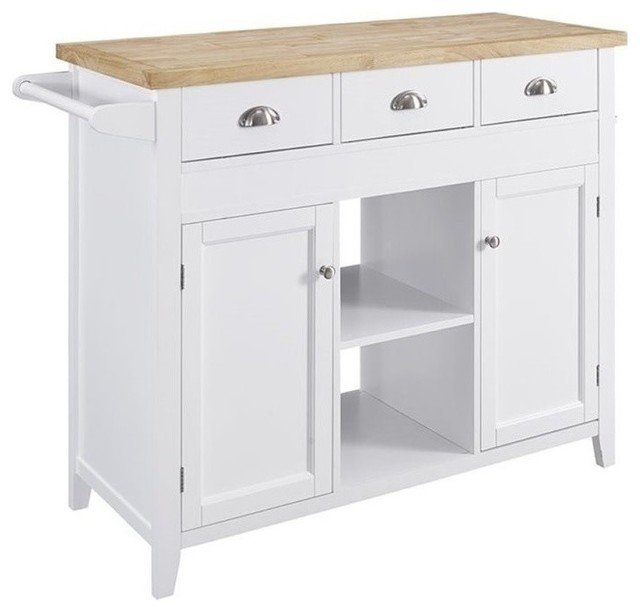 Bowery Hill Granite Top Kitchen Cart Kitchen Islands And
