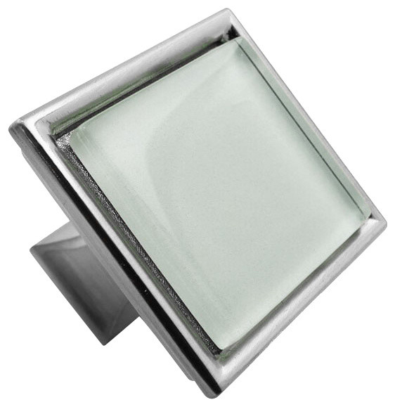 Crystal White Crystal Glass Brushed Nickel Madison Classic