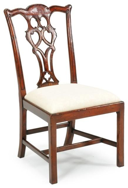 Jonathan Charles Buckingham Medium Antique Mahogany Dining Chair - Jonathan Charles Buckingham Medium Antique Mahogany Dining Chair