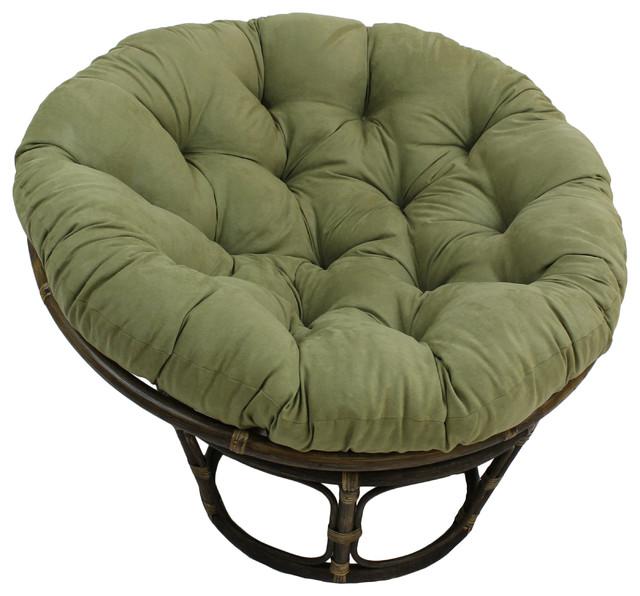44 Quot Solid Micro Suede Papasan Cushion Fits 42 Quot Papasan