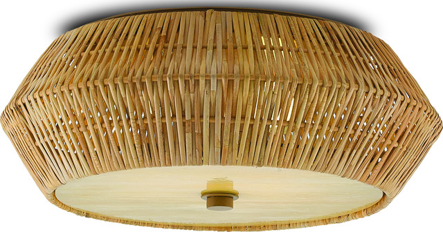 Antibes Flush Mount Light Ceiling Fixture Currey 2 Light Honey Tropical Flush Mount Ceiling Lighting By Hedgeapple