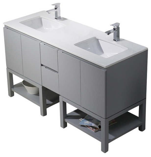 Emmet 60 Double Vanity Bathroom