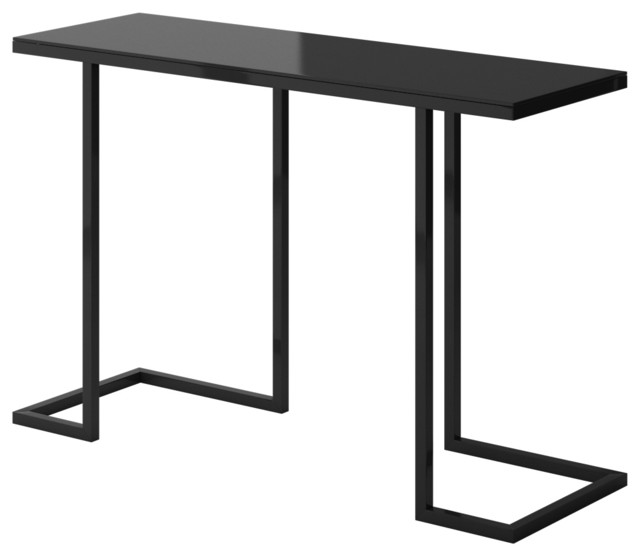 Nice Amelia Modern Console Table With Black Metal Frame Modern Console Tables