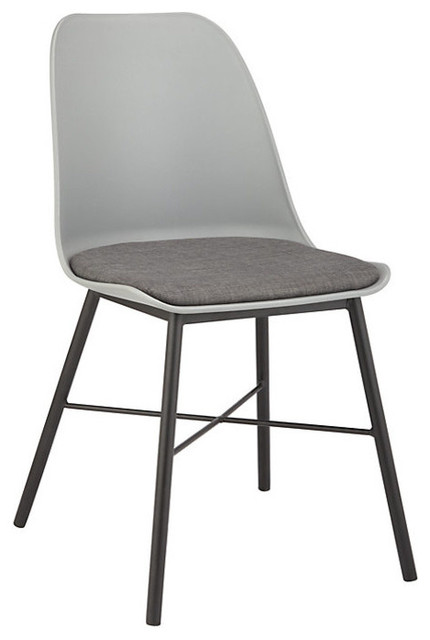 Whistler Modern Dining And Side Chair, Gray.