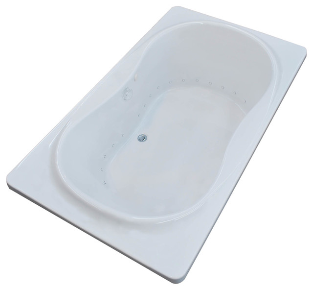 Fabriano 36 X 72 Rect. Air Drop In Bathtub W/ Center Drain