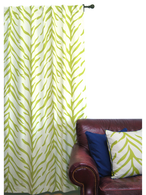 Shop Houzz | ez living home Zebra Window Panel, Lime and Cream ...