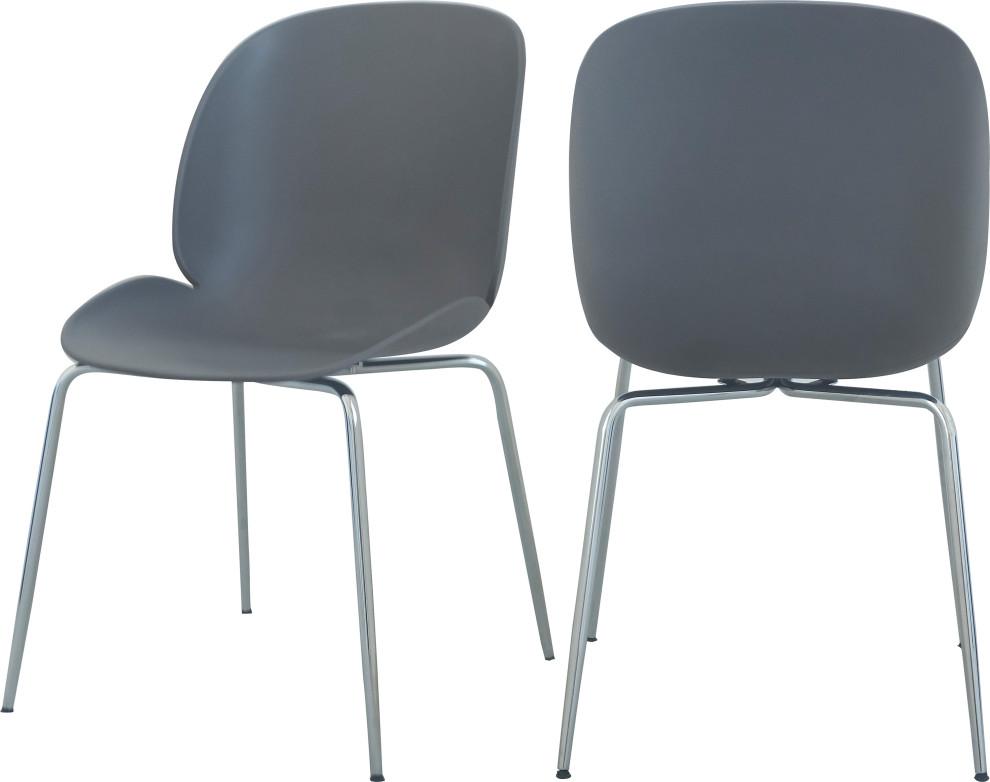 Paris Velvet Dining Chairs, Set of 2 - Midcentury - Dining ...
