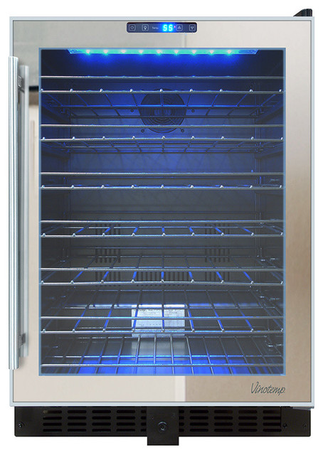 54-Bottle Touch Screen Mirrored Wine Cooler.