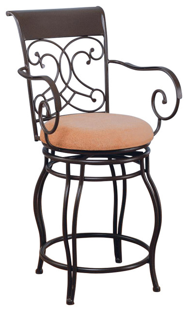 Dark Brown Metal Counter Height Stool Chair By Coaster