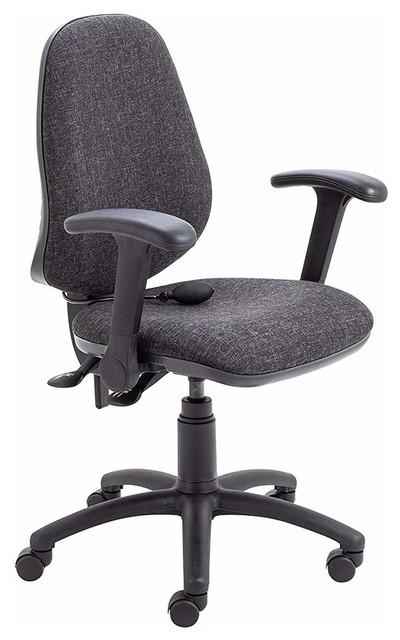 Marvelous Contemporary Swivel Chair Folding Arms Linen Fabric Upholstery Charcoal Creativecarmelina Interior Chair Design Creativecarmelinacom