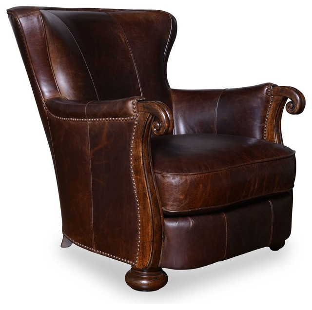 art furniture kennedy walnut leather lounge chair