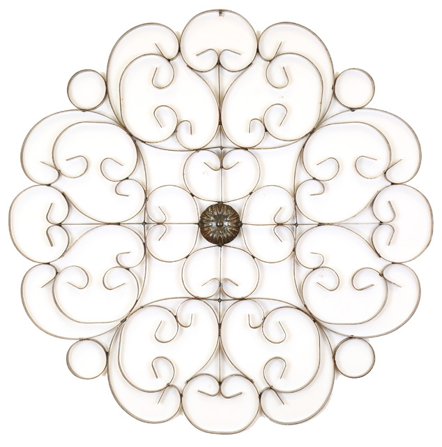 Outdoor Scroll Wall Art Interesting My Amigos Imports  Medallion Iron Wall Scroll & Reviews  Houzz Inspiration