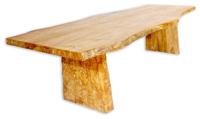 Live Edge Solid Teak Dining Table Rustic Tables By Idlewild Furnishings