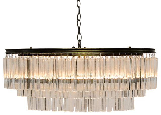 Cynthie Modern Antique Oval Br Square Pendants Chandelier