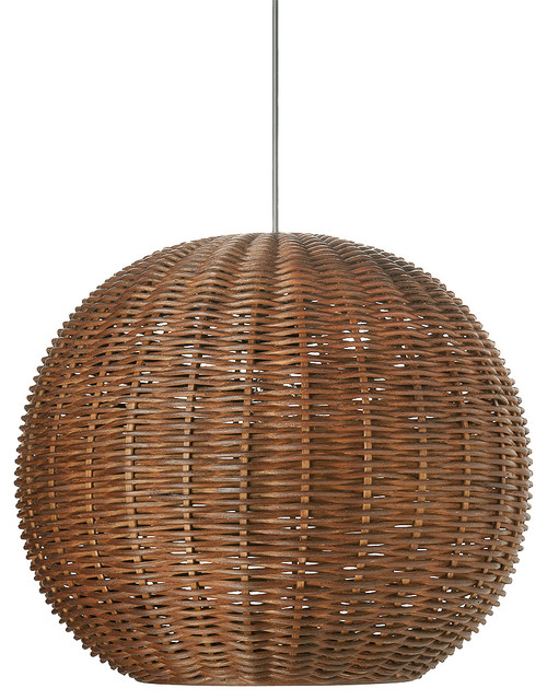 Kouboo Wicker Ball Pendant Light Rustic Brown Amp Reviews