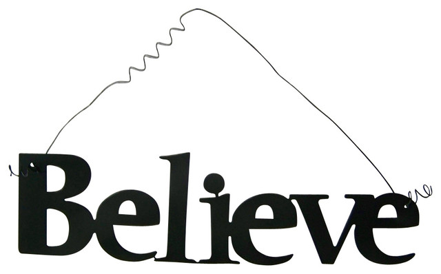 Inspirational Word BELIEVE Wall Hanging Home Decor Metal Beauteous Believe Signs Decor