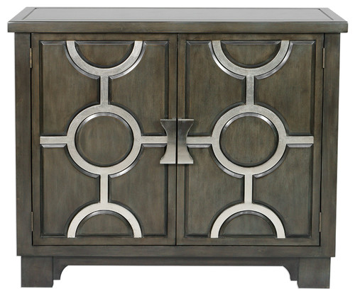 Uttermost Caine Charcoal Accent Cabinet
