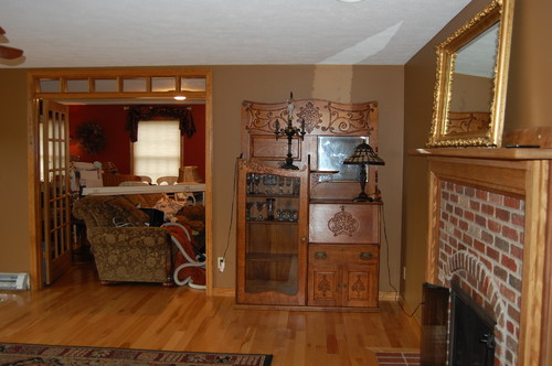 Furniture Placement In Living Room With Multiple Doors And Firelplace