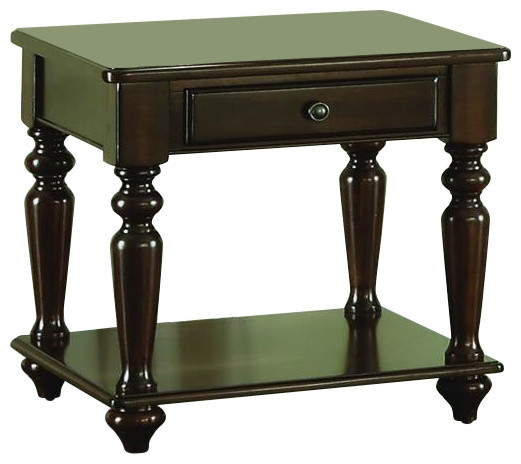 Homelegance Lovington End Table With Functional Drawer In