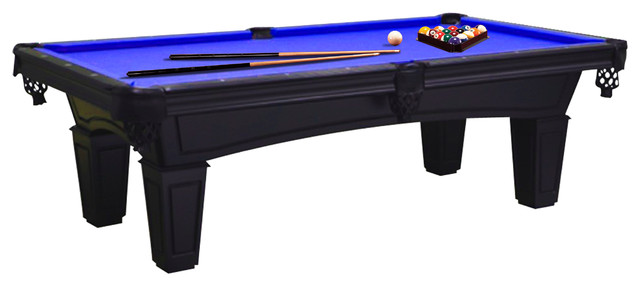 Imperial Shadow Black Pool Table Blue Cloth With Accessory - Imperial shadow pool table