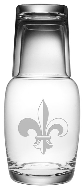 Fleur-De-Lis Night Bottle Set.