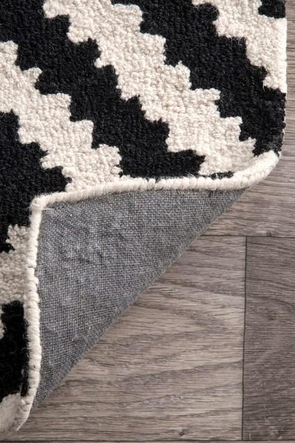 Hand-Tufted Tuscan Vs174 Rug, Black, 7&x27;6x9&x27;6.