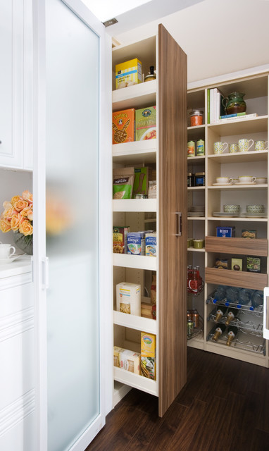 Pull-out Pantry Cabinet - Contemporary - Other - by transFORM | The Art of Custom Storage