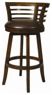 Ortona Swivel Barstool, Distressed Cherry