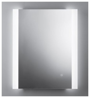"Kalia - Miraz Accent Illuminated LED Bathroom Mirror 28""x32"" #MR1461 & Reviews 