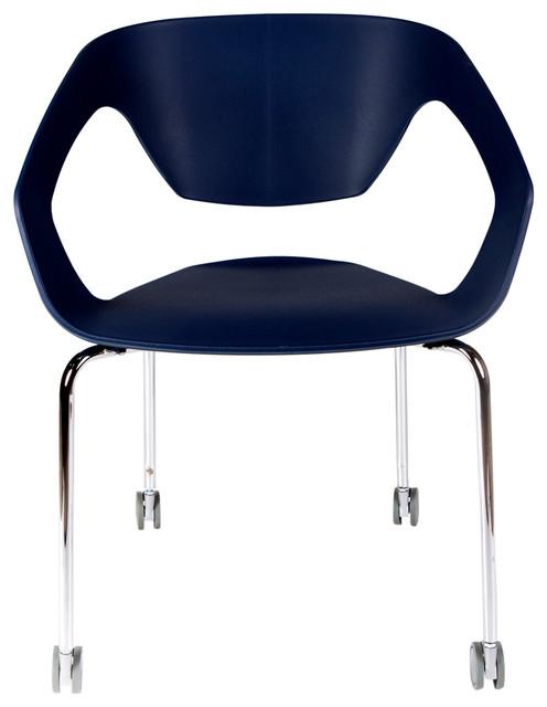 Ezra Roller Chair, Navy Blue