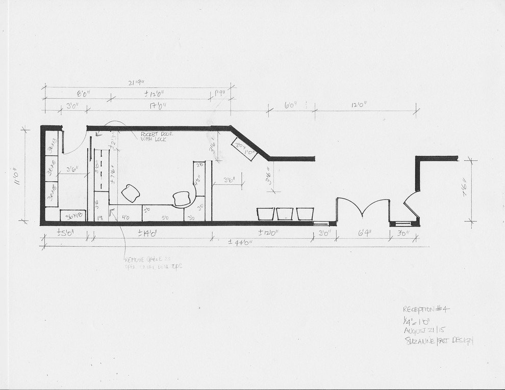 commercial space plan-accounting firm reception