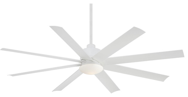 "Minka Aire Slipstream 65"" Flat White Outdoor Ceiling Fan"
