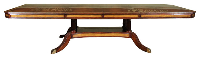 Mahogany Dining Table Or Conference Table With Self Storing Leaves - Conference table with leaves