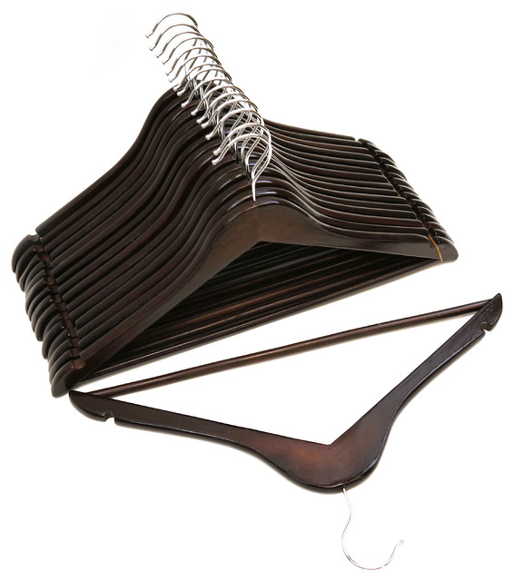 Mahogany Wood Suit Hangers, Pack of 96